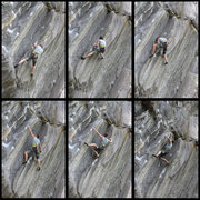 Rock Climbing Photo: A sequence of James Otey in the Barracuda corner.....