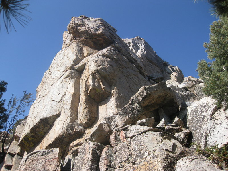 Southwest corner of Greenhouse Rock.