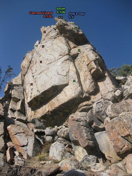 Rock Climbing Photo: Bolt locations.