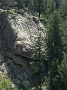 Rock Climbing Photo: Close up of Turtle Rock. The Fiona Route starts do...
