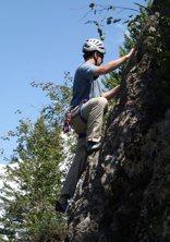 Rock Climbing Photo: Evan starting up Thesis