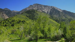 Rock Climbing Photo: West Slabs are on the far right, Kamp's Ridge is t...