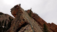 Rock Climbing Photo: The one section we roped for. There was an old pit...