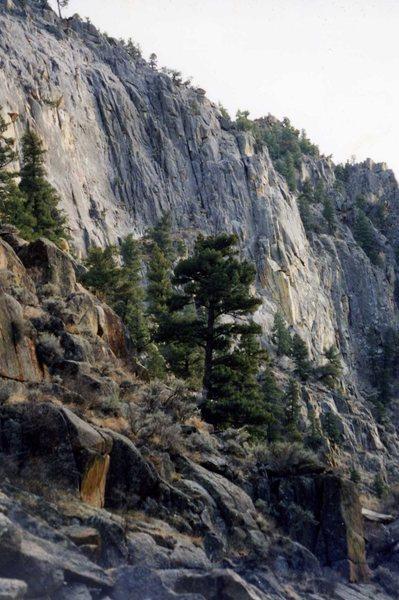 Tahquitz quality granite. Embudo River Canyon, Taos County NM.