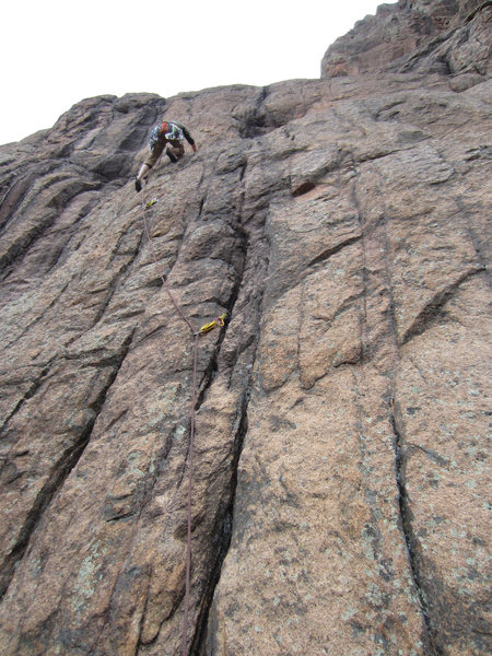 Rock Climbing Photo: AR goes toward the black roof to Phil's right.  (C...