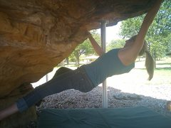 Rock Climbing Photo: A fun, standalone V2 on the steepest section of th...