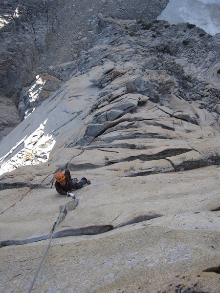 Rock Climbing Photo: The amazing last pitch shared with the regular rou...