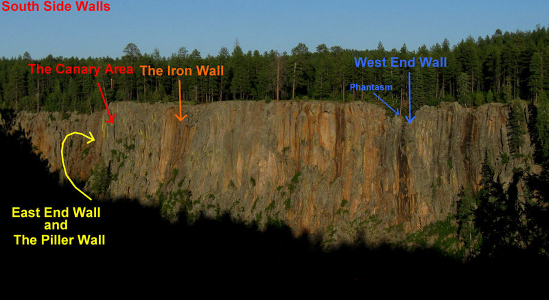 Rock Climbing Photo: A look at the walls of the South Side of Volunteer...
