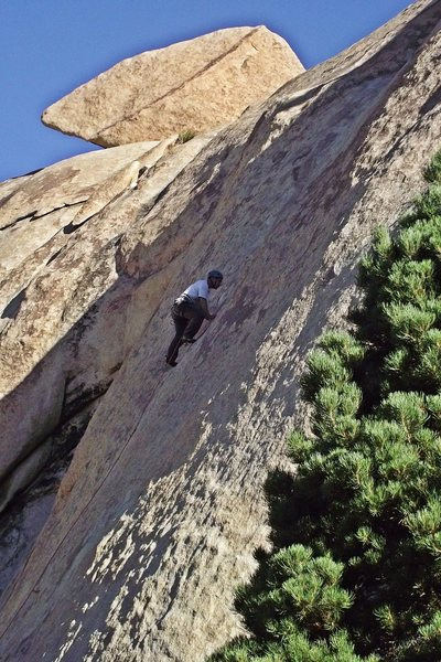 Quick Draw McGraw (10a).  Recommended route on Echo Rock.