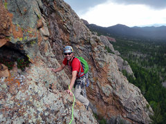 Rock Climbing Photo: Tyson following up Park View Dome, with Ranch Hand...