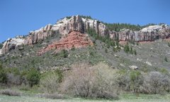 Rock Climbing Photo: Above CR 205.