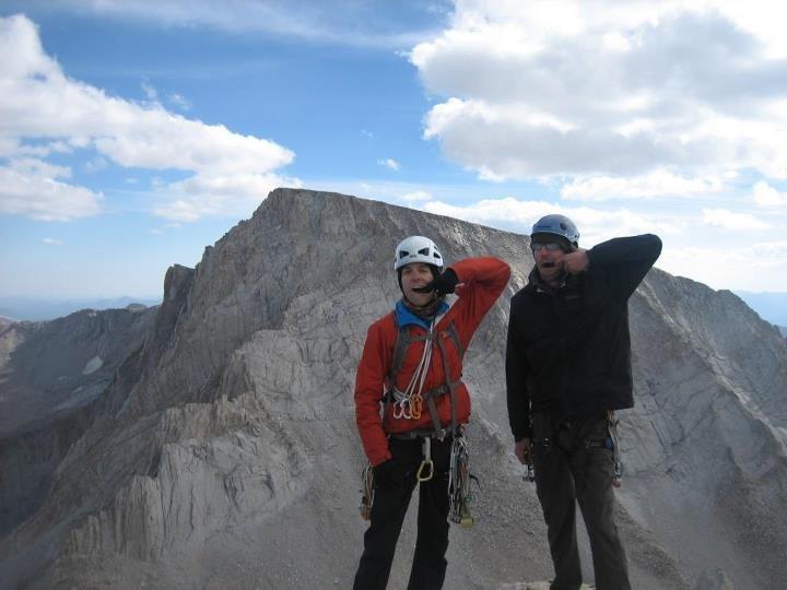 Rock Climbing Photo: Summit of Mt Russel, via Fishhook Arete