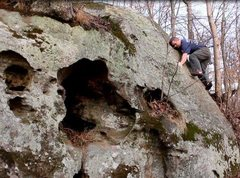 Rock Climbing Photo: Baker Run, Marietta, Ohio. Unnamed slab at the far...