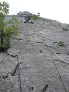 Rock Climbing Photo: Marin on the crux 2nd pitch of the route February ...