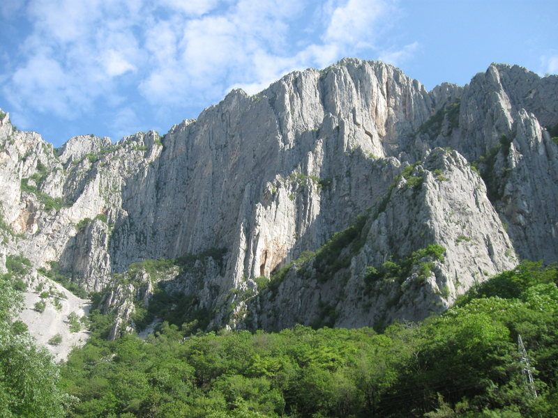The central portion of Vratsa as seen from the parking area by the hostel.