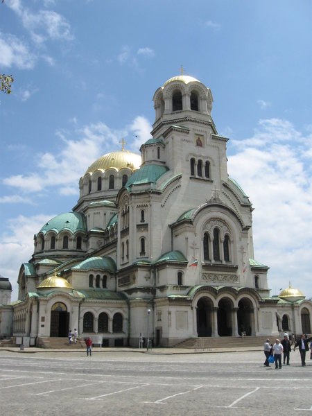 Perhaps the most famous building in Sofia - Alexander Nevski Church.