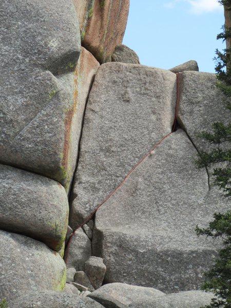Rock Climbing Photo: Cornelius, route shown in red.