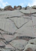 Rock Climbing Photo: Left side of Walt's Wall with Foolishness and Tour...