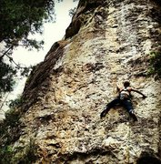 Rock Climbing Photo: Cougar's Pupil 5.11 Spearfish Canyon