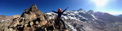 Rock Climbing Photo: Rachel stoked to be on the summit of the Sundial. ...