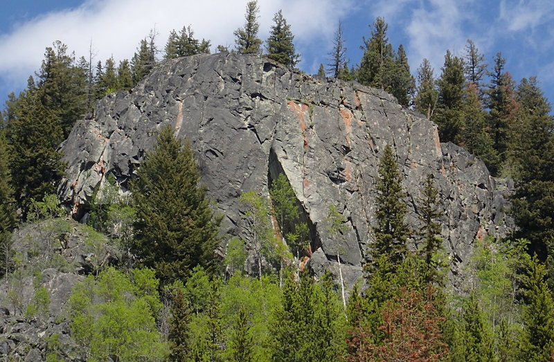 Rock Climbing Photo: Toats Coulee Middle Fork Crag from creek
