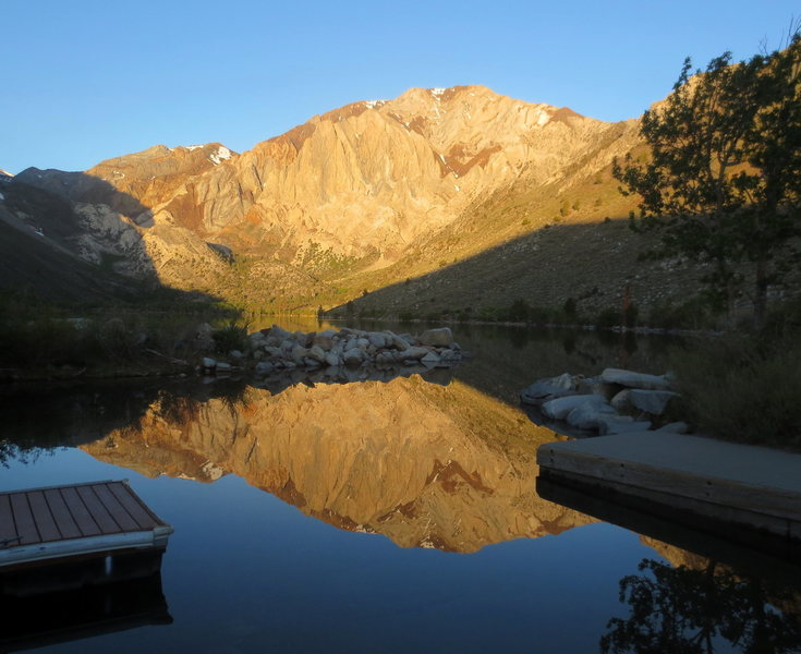 Laurel Mountain, reflection in Convict lake