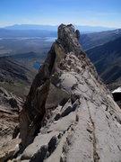 Rock Climbing Photo: Knife Edge ridge a long ways up