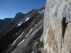 Rock Climbing Photo: Steepness of one of the headwalls