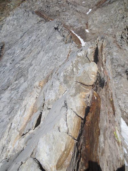 Rock Climbing Photo: More sharp ridge traversing