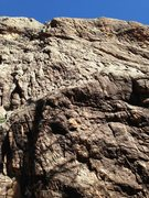 Rock Climbing Photo: Looking up at the route with the very bottom not v...