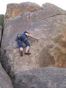 Rock Climbing Photo: Desi starting on the upper half of The Serpent wit...