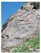 Rock Climbing Photo: The left side of Mektep.