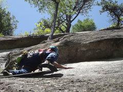 Rock Climbing Photo: Jon on the route Photo by Jay