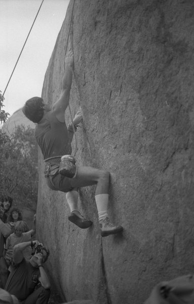 Ron Kauk - First Annual Stone Masters Competition 1986. Photo: M. Stewart