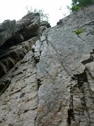 Rock Climbing Photo: Paul Deagle Looking up from first belay ledge (opt...