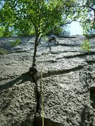 Rock Climbing Photo: Climber nearing the top