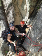 Rock Climbing Photo: Alan Jenkins and Christopher Lane at the pitch 2 b...
