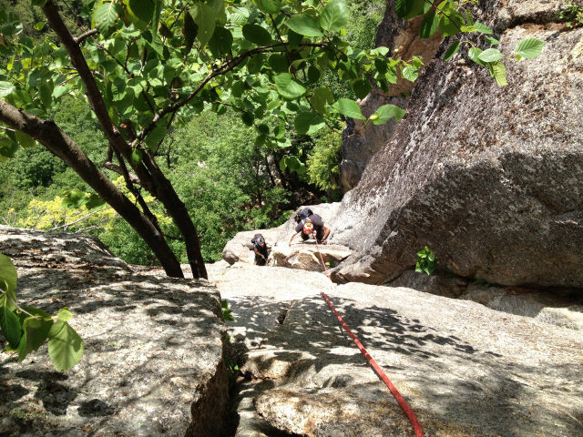 Christopher Lane on the crux moves of pitch 2