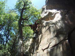 Rock Climbing Photo: Don't think I could have done the start without a ...
