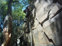 Rock Climbing Photo: This is clearly NOT the 5.8 variation.  I would gu...