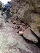 Rock Climbing Photo: Wind Tower middle ledge near 'Left Out' before the...