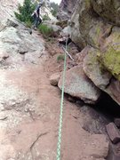 Rock Climbing Photo: Wind Tower middle ledge near 'Left Out' after the ...