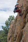 Rock Climbing Photo: Joanne on Mighty Quinn... a few moves before the f...
