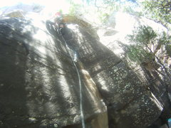 Rock Climbing Photo: Transitioning into the upper part of the climb was...