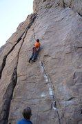 Rock Climbing Photo: Bernd  starting up Lalaland
