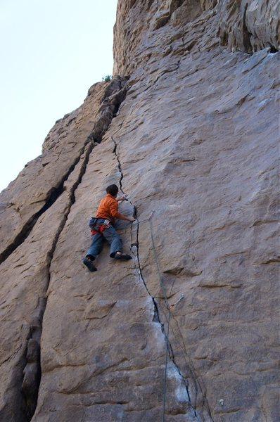 Rock Climbing Photo: Bernd leading Lalaland