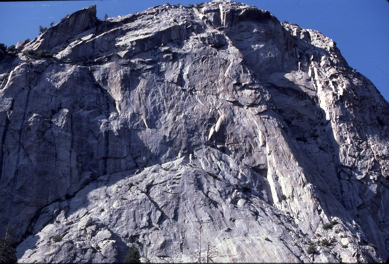 North Dome Apron and Headwall. Zumwalt Meadow, Kings Canyon.