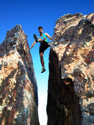 Rock Climbing Photo: Random Chimney at Kraft Boulders