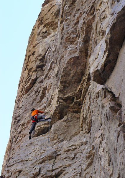 Rock Climbing Photo: Over the first overlap