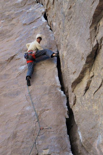 Rock Climbing Photo: Nice stemming in the corner